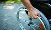 in rolstoel na ongeval